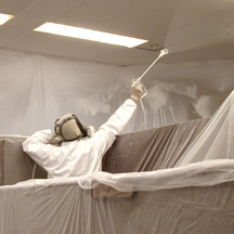 Acoustic ceiling paint is messy and compromises the