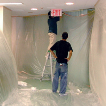 Trying to cover up old ceiling tiles with paint has never been an acceptable solution. Ceiling Solutions� unique coating restores the appearance while improving the noise reduction properties and fire retardant values